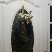 Restored Antique Horse Leather Harness Collar Wreath,flowers And Bells