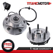 Pair Lh And Rh Front Wheel Hub Bearings And Abs Sensors For 2006-09 Dodge Ram 1500
