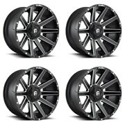 Set 4 22x10 Fuel Contra D616 Matte Black For Ford Wheels 8x170 -18mm W/ Lugs