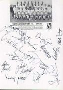 Tranmere Rovers Fc - Signed Team Sheet - Coa 10888