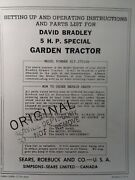 Sears David Bradley Db 917.575100 5 Hp Tractor And Plow Owners And Parts 2 Manual S
