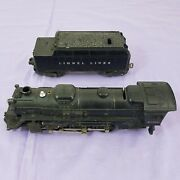 Lionel Electric Trains 2036 Steam Locomotive And Whistle Tender 6466w Vintage