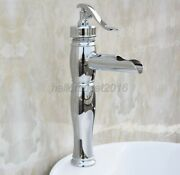 New Water Pump Look Style Chrome Brass Bathroom Faucet Vessel Sink Mixer Tap