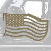 For Jeep Gladiator 20 Trail Door Kit Premium American Flag Style Military Beige