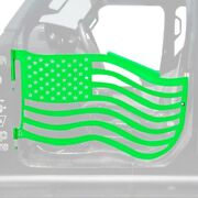 For Jeep Gladiator 20 Trail Door Kit Premium American Flag Style Neon Green