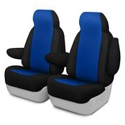 For Ford Focus 04-07 Neosupreme 1st Row Blue W Black Custom Seat Covers