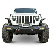 For Jeep Gladiator 20 Bumper Trailchaser Mid Width Textured Black Front Winch