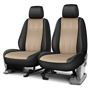 For Chevy Silverado 1500 14-18 Seat Cover Forma Series 1st Row Black And Beige