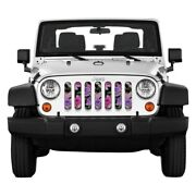 For Jeep Gladiator 20 Main Grille 1-pc Outdoor Themed Series Pink Roses Style