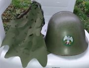 Steel Helmet Jus M59/85 With Eagle Star And Camo Cover Universal Yugoslavia Serbia