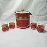 Rare Vintage 70s Lesportsac Ice Bucket Chest With 4 Glasses Promotional Item Mcm