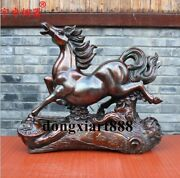 60 Cm Chinese Zodiac Animal Pure Bronze Wealth Fengshui Horse Statue