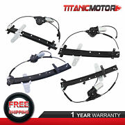 4x Front And Rear Power Window Regulator +motor For Crown Victoria Grand Marquis