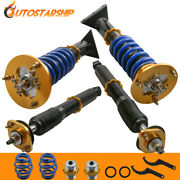 Fh And Rh 4x Coilover Shocks Struts For 1991-99 Bmw E36 3 Series Adjustable Height