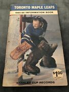 1965-66 Toronto Maple Leafs Media Guide Johnny Bower Autograph X3 Times