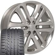 22x9 Wheel And Tire Fits Ford Trucks F150 Style Polished Rims W/gy Tires 3918 Cp