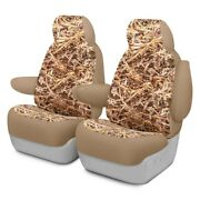 For Volkswagen Golf 03-05 Cowboy Camo 1st Row Straw Custom Seat Covers