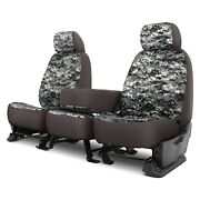 For Ford F-250 Super Duty 17 Camo 1st Row Digital Charcoal Custom Seat Covers