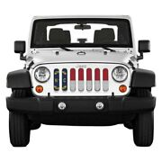 For Jeep Wrangler Jk 18 Main Grille 1-pc State And City Flags Series North