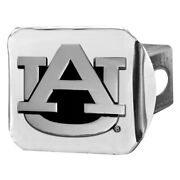 Fanmats Chrome College Hitch Cover W Auburn University Logo For 2 Receivers