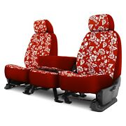 For Ford F-250 Super Duty 17 Hawaiian 1st Row Red Custom Seat Covers