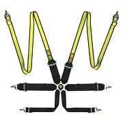 Omp 6-point Fia 8853/2016 Saloon Safety Harness Sets Black And Yellow