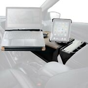 Reach Front Seat Birch Desk W Built-in Power Inverter And Ipad/tablet Mount