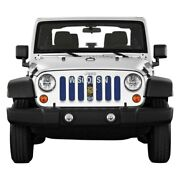 For Jeep Wrangler 18-20 Main Grille 1-pc State And City Flags Series Wisconsin