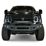 For Ford F-250 Super Duty 17-20 Front Bumper Low-profile Full Width Black Powder