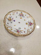 Dresden Ahrenfeldt Crown Saxe Hand Painted Floral And Gold Plate 1886-1910