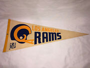 """1970's Vintage Nfl Los Angeles Rams Football Pennant 30"""" X 12"""" Excellent Shape"""