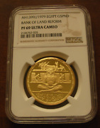 Egypt 1979 Gold 5 Pounds Ngc Pf69uc Bank Of Land Reform Mintage - 250