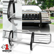 Chrome Stainless Steel Grille/brush/headlight Guard For 84-01 Jeep Cherokee Xj