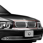 For Bmw 745i 02-05 Main Grille Lexani 1-pc Classic Style Chrome Mesh Main Grille
