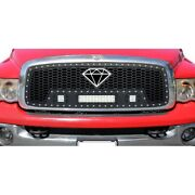 For Dodge Ram 1500 02-05 Main Grille 1-pc Honeycomb Style Black Laser Cut Mesh