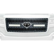 For Gmc Sierra 1500 14-15 Main Grille 1-pc Honeycomb Style Black Laser Cut Mesh