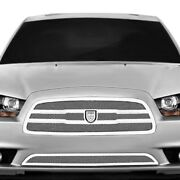 For Dodge Charger 11-14 Grille Kit Lexani Zurich Style Chrome Mesh Grille Kit W