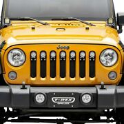 For Jeep Wrangler Jk 18 Main Grille 1-pc Torch Series Black Formed Woven Wire