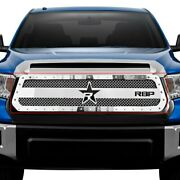 For Toyota Tundra 14-20 Rbp 1-pc Rx-3 Series Chrome Dual Weave Mesh Main Grille