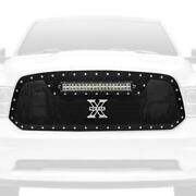 For Ram 1500 13-18 Main Grille 1-pc Torch Series Black Formed Woven Wire Mesh