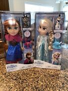 Set Of Disney Frozen Tea Time W/ Princess Anna And Sven Elsa And Olaf 12 Inch New
