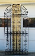 Metal Gate Fence Panel Heavy Architectural Salvage Door Tight Nice