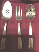Rare Longaberger W. Traditions Flatware Silverware Serving Set 3pc.and Holder Usa