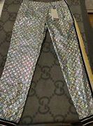 New With Tags 100 Authentic Holographic Gg Monogram Pants Sweats Size L