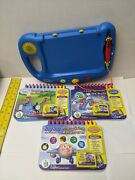 My First Leap Pad Frog Lot System And 3 Cartridges And Books Tested And Working
