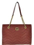 New With Tags 100 Auth Gg Marmont 2.0 Mattelasse Medium Red Bag Shoulder