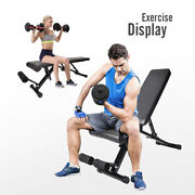 Weight Bench Adjustable Exercise Bench Incline Decline Foldable Utility Workout