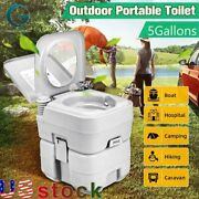 5gal 20l Commode Potty Toilet Potty Portable Rv Toilet Camping Boating Traveling
