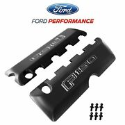 2011-2017 Ford F-150 5.0 V8 Black Aluminum Engine Coil Covers Pair W/ Ball Studs