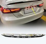 For Toyota Camry 2018-20 Accessories Black Rear Door Trunk Led Tail Light Cover
